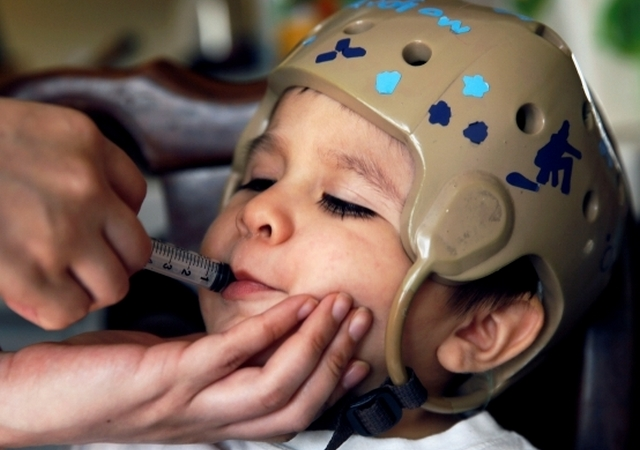 None of the medications prescribed by his doctors helped little 2-year-old Andrew Rios control his epileptic seizures.